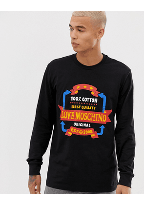 Love Moschino chest logo long sleeve top