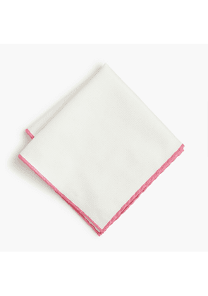 Tipped cotton pocket square