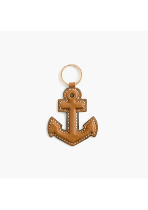 Anchor key chain in leather