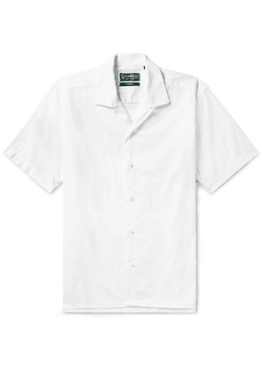 Gitman Vintage - Camp-collar Cotton Oxford Shirt - White