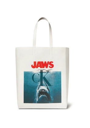 CALVIN KLEIN 205W39NYC - Jaws Printed Leather Tote Bag - White