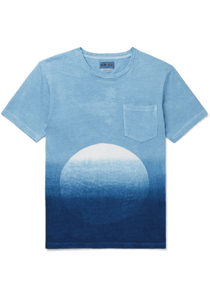 Blue Blue Japan - Slim-fit Dégradé Indigo-dyed Cotton-jersey T-shirt - Blue