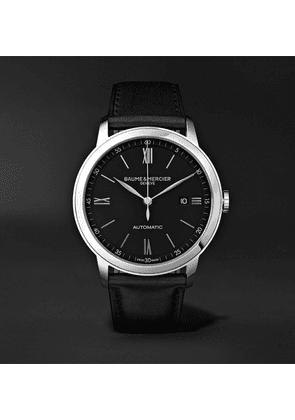 Baume & Mercier - Classima Automatic 42mm Stainless Steel And Leather Watch, Ref. No. M0a10453 - Black