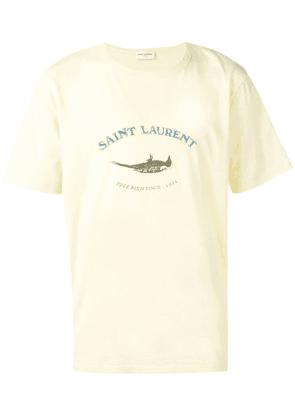 Saint Laurent tour logo shirt - Yellow