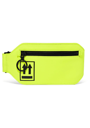 Off-White - Neon Leather Belt Bag - Chartreuse
