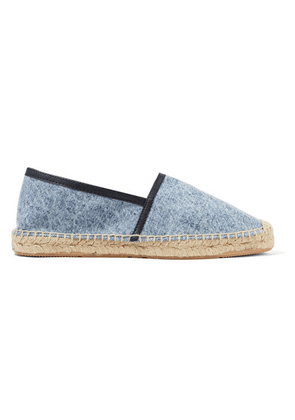 Isabel Marant - Canaee Leather-trimmed Denim Espadrilles - Blue