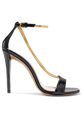 Alexandre Vauthier - Alena Patent-leather Sandals - Black