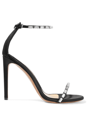 Alexandre Vauthier - Carla Crystal-embellished Satin Sandals - Black