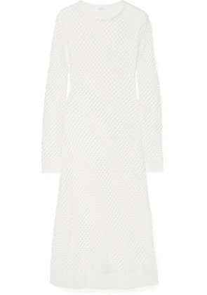Dodo Bar Or - Jersey-trimmed Mesh Midi Dress - White