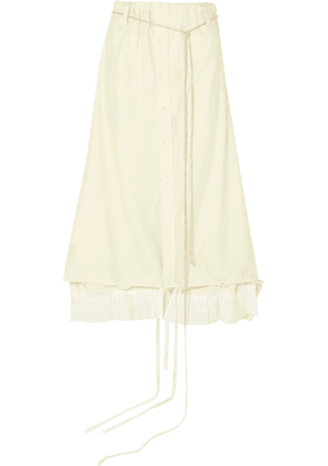 Ann Demeulemeester - Asymmetric Ruched Cotton Skirt - Ecru