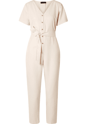 HATCH - The Noelle Washed-twill Jumpsuit - Ivory