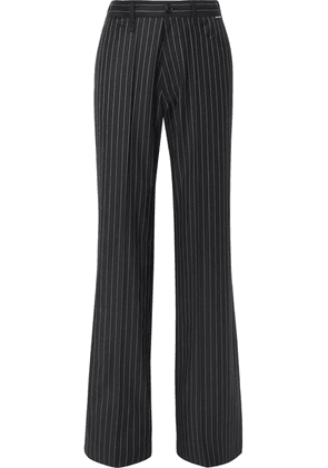Balenciaga - Pinstriped Wool And Cashmere-blend Pants - Navy