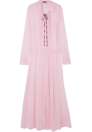 Ann Demeulemeester - Ruched Silk-crepon Maxi Dress - Pink