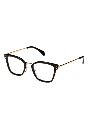Square Acetate & Metal Optical Frames, Black