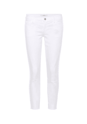 Low-rise cropped skinny jeans