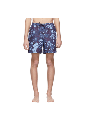 Tiger of Sweden Blue & Purple Sky Captain Swim Shorts