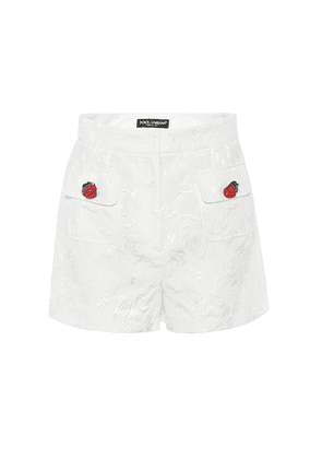 Cotton and silk jacquard shorts