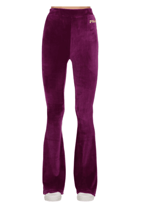 Tonia Cotton Blend Flared Pants