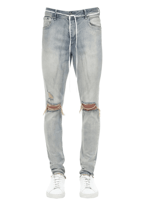 14cm Distressed Cotton Blend Jeans