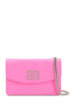 Bb Logo Embossed Leather Shoulder Bag
