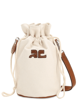 Mini Iconic Cotton Canvas Shoulder Bag