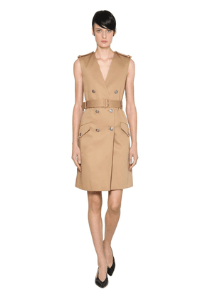 Cotton Gabardine Trench Dress