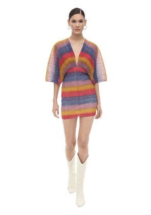 Rainbow Lurex Mini Dress