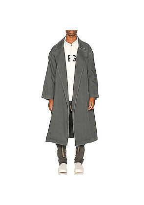 Fear of God Canvas Trenchcoat in Green