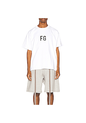 Fear of God Short Sleeve FG Tee in White