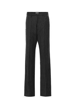 Striped wool and cashmere pants
