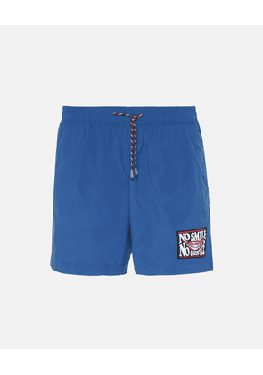 Stella McCartney Blue No Smile No Service Swim Shorts, Men's, Size 30