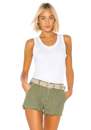 AG Adriano Goldschmied Cambria Tank in White. Size L,XS.