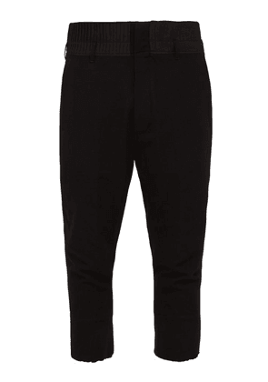Ann Demeulemeester - Pleated Wool Blend Cropped Trousers - Mens - Black