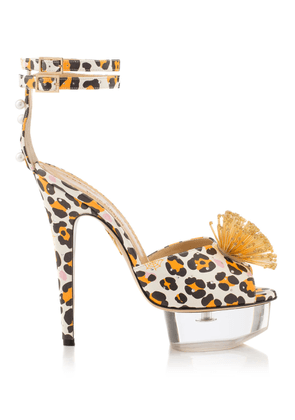 Charlotte Olympia Sale Women - POMELINE VC NATURAL & GOLD Printed calfskin/perspex 39