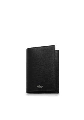 Mulberry Passport Cover in Black Cross Grain Leather