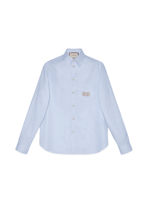 Oxford cotton shirt with GG