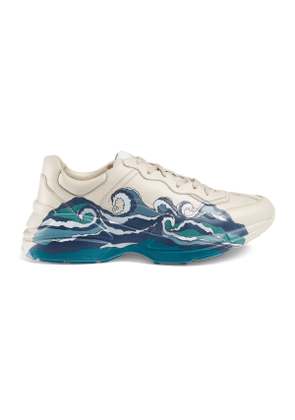 Men's Rhyton leather sneaker with wave