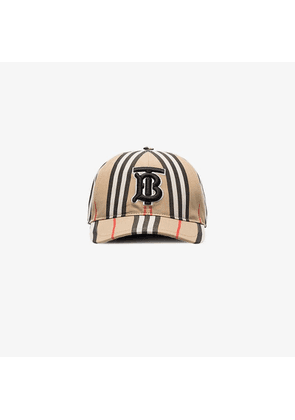 Burberry Beige Icon stripe baseball cap