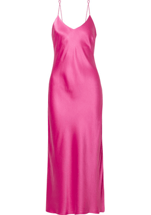 Anine Bing - Rosemary Silk-satin Midi Dress - Pink