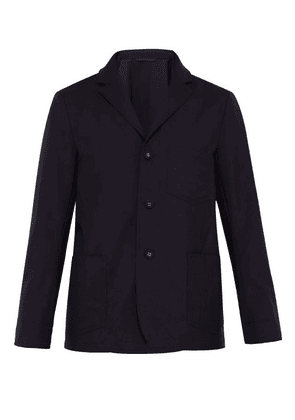 Officine Générale - Aris Single Breasted Fresco Wool Jacket - Mens - Navy