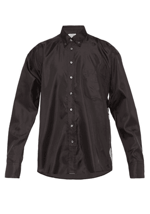 Vetements - Skull Print Satin Shirt - Mens - Black