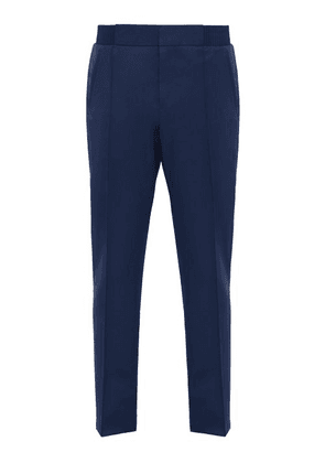 Berluti - Straight Leg Wool Trousers - Mens - Blue