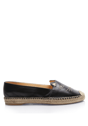 Charlotte Olympia Flats Women - KITTY ESPADRILLE BLACK Smooth Nappa 36