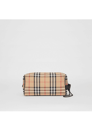 Burberry Vintage Check and Leather Pouch, Beige
