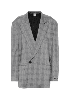 Checked single-breasted blazer