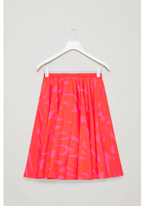 VOLUMINOUS PRINTED SKIRT