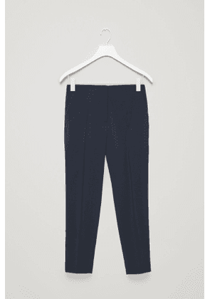 STRAIGHT PRESS-FOLD TROUSERS