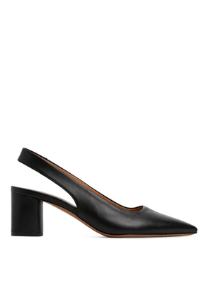 Slingback Leather Pumps - Black