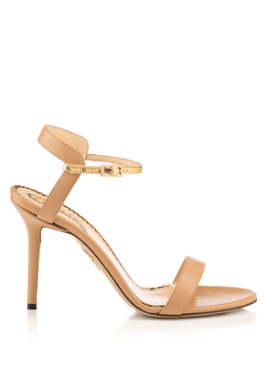 Charlotte Olympia Sale Women - QUINTESSENTIAL NUDE & GOLD Calfskin 35