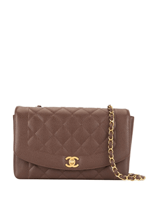 Chanel Vintage Diana quilted chain shoulder bag - Brown